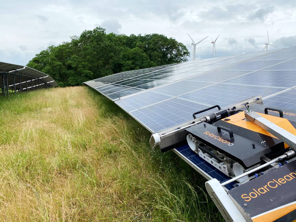 Solarparkreinigung